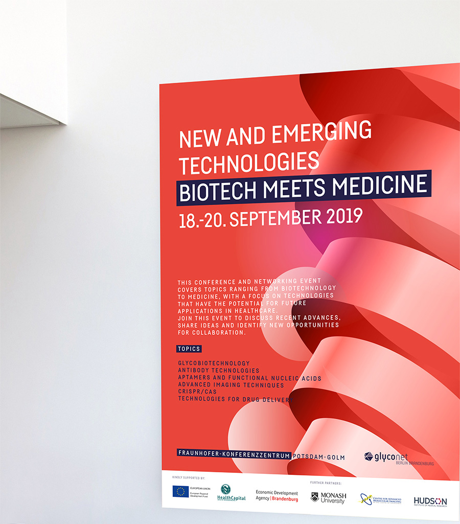 Konferenz-Design »Biotech meets Medicine«